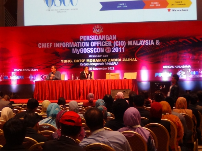 Participated In Malaysia Cio Conference And Mygosscon 2011