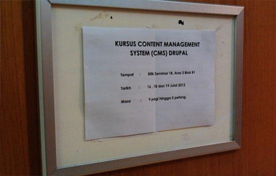 Drupal Training Signage