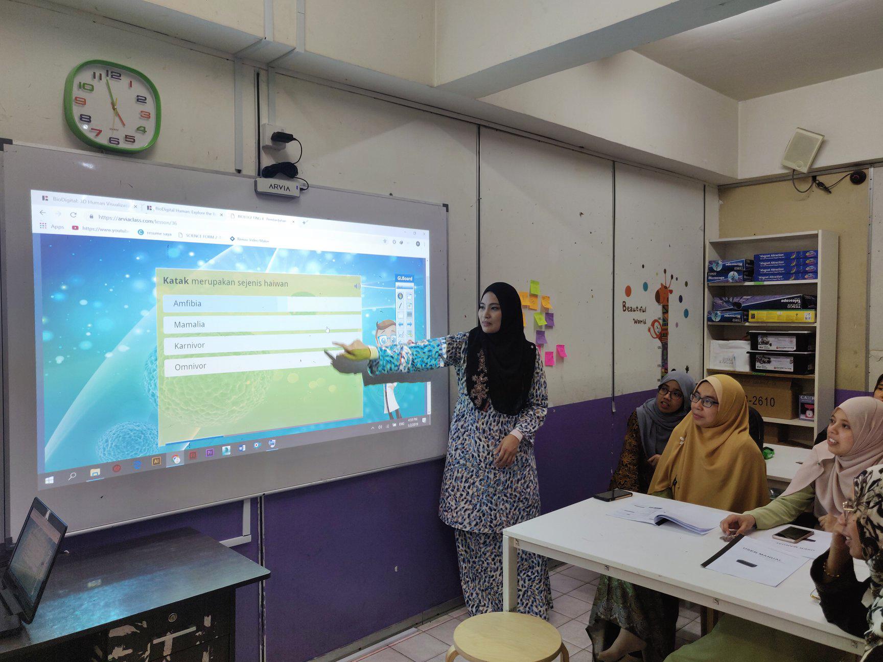 Arvia Interactive Whiteboard Training For Islamic